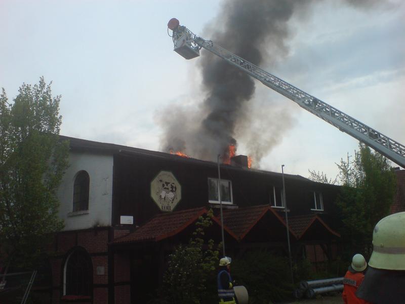 Brennender Dachstuhl