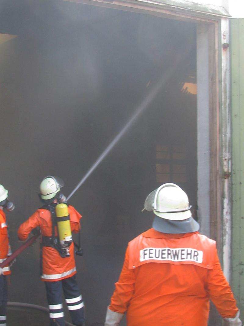 Brandbekämpfung mit C-Rohr