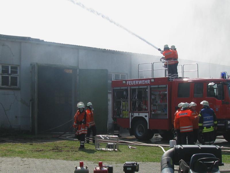 Brandbekämpfung mit Wenderohr
